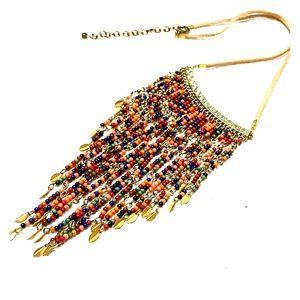 Fashion-Necklace Multicolor/Gold-Tone